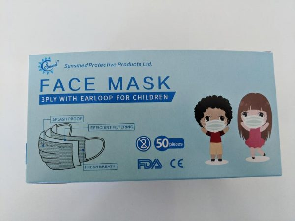 Children's size surgical mask ASTM level 3