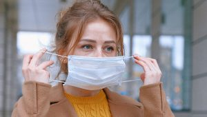 Due to COVID-19 wearing a face mask is urgent
